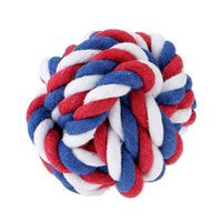 Wholesale Perfect Multicolor Small Pet Toy Multi Knots Rope Ball for Pet Dog Chew Rope Ball Toy Toxic Free Puppy Safe Entertained Rope Toy