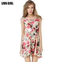 asos floral - New Spring Summer Fashion ruffled Skirts Female embroider Elegant Womens sleeveless chiffon dress asos