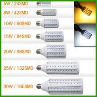 20w led bulb - DHL Free LED Corn Bulb W W W W W W W Cree LED E27 LED Bulbs AC110 V Warm White Cool White high luminous fulx