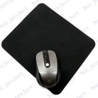 Wholesale 1 mm thickness cmx24 cm Natural rubber New black tasteless Mice Mouse Pad Mat Mousepad for free DHL