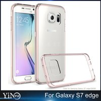 acrylic plastic material - Plastic Case For Samsung galaxy S7 S7 Edge Soft TPU PC Material Acrylic Transparent Clear Crystal Protector