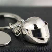 bicycle helmets cheap - 10Pcs Helmet Key Chain Ring Creative Motorcycle Bicycle Movable Sunshade Keychain Keyring Keyfob Key Chains Cheap Key Chains