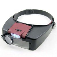 Wholesale 10X Headset Head Visor Magnifier Loupe Jeweler Magnifying Microscope LED light