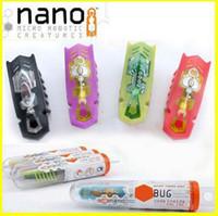 achat en gros de jouet nano-15pcs / lot Nouveau Nano bug électronique jouets pour animaux domestiques, des jouets d'insecte robotique pour les enfants, jouets pour bébés Nano ver insectes lutte contre les reptiles Shaking