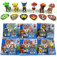 baby hot dogs - 6pcs Hot Baby Kids Toy Puppy Patrol Car Dog Action Figure Toys Anime Model Doll Gift for Children