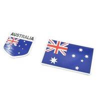 australia film - 3D Aluminum Australia Flag Car Stickers Film Decals Accessories Car Styling National Badge Auto Decorative Emblem High Quality