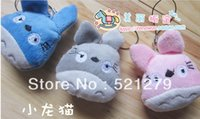 Wholesale stuffed Totoro plush toy colors mixed Keychain Plush Doll Toy Totoro cell phone pendant toy