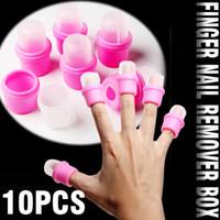 Wholesale 10 Wearable Nail Soak Soakers Polish Remover Acrylic UV Gel Cap false art nail tools