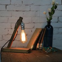 american forging - Vintage American Country Edion Bulb Desk Lamp Modern Wood Reading Lights E27 Bedside For Home Bedroom Abajur Leitura V V