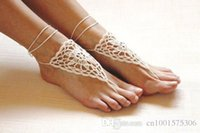 beach bridal shoes - Crochet beige barefoot sandals Nude shoes Foot jewelry Victorian Lace Yoga shoes Bridal anklet beach accessories sandals