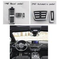 audi accelerator pedal - Metal anti skid car pedal gas Brake pad foot rest cover accelerator for Audi A4 A5 A6 A7 Q5 MT AT