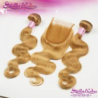 Cheap Blonde Hair With Closure Best Blonde Closure With Bundles