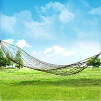 Wholesale 2015 New Arrival portable outdoor thickening nylon rope camping hammock Simple single Summer Lightweight Nylon meshy hammock HHA1