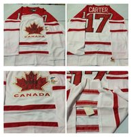 Cheap Mens #17 Carter White 2010 Canada Team Vancouver Winter Olympic Hockey Jerseys Ice International Sports Stitched Premier Authentic Sports