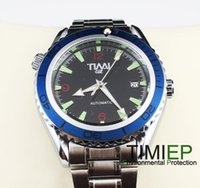 Cheap Grenn Energy 2013 Blue Ring Mens Mechanical Clock AUTO SS TIMI Brand Wrist Watch X'mas Gift