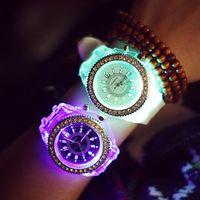 korea fashion - Luminous glow watch personality exobiology harajuku South Korea han edition men and women fashion students lovers jelly watch quartz watch