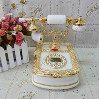 Wholesale Fashion phone vintage antique telephone jade natural white telephone