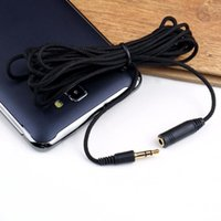 Wholesale 3 mm ft Audio Headphone Stereo Female to Male Extension Cable Cord For Mp4 Brand New Hot New Arrival