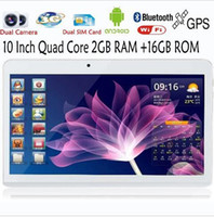 Wholesale 10 inch Android g phone quad core Android gb RAM ROM gb WiFi GPS FM bluetooth g gb tablet