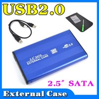Wholesale External USB to HARD DISK DRIVE SATA quot inch HDD Adapter CASE Enclosure Box for PC Computer Laptop Notebook