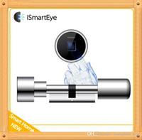 Wholesale Sample order iSmartEye L3 Fingerprint Lock Cylinder Convenient installation Smart Lock mm mm cylinder remote WiFi plug