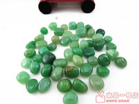 armrest pillow - Natural crystal aventurine jade gravel fish tank flower crystal pot magnets pillow stone decoration