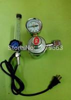 al por mayor medidor de 36v-El regulador al por mayor-Libre de CA 36V de gas, calentador de CO2 caudalímetro para máquinas de soldadura MIG, reguladores de presión de gas