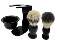 beard brush kit - Men Soap Dish Stand Bowl Shaving Razor Beard Brush Shaver Kit Set