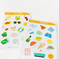 Wholesale Decorative Stickers Summer Impression DSealing Paste Diaries Posted It Décor Office School Supplies from China