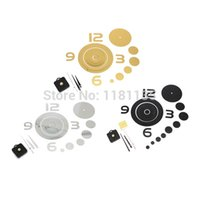 Cheap Brief DIY 3D Home Modern Decor ring Wall Stickers Living Room Love Mirror Trendy Wall Clock 3 color Free Shipping