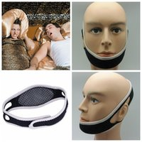 Wholesale 100PCS HHA89 High quality Anti Snoring Chin Strap Neoprene Stop Snoring Chin Support Belt Anti Apnea Jaw Solution Sleep Device