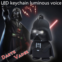 plastic pendant lights - Star Wars Darth Vader Keychains Accessories LED Luminous keychain colors lights Key rings cute Pendant Animation Star Wars pendant