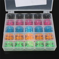babylock machines - 2015 High Quality Newest Empty Clear Colorful Storage Bobbin Case Box Spool For Brother Babylock Singer Sewing Machine