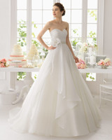 beaded hand - Custom Made A Line White Organza Wedding Dresses Sweep Train With Beaded Flower Sweetheart Sleeveless Bridal Wedding Dress Gowns Button