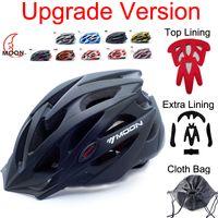 bicycle helmet - Upgrade MOON New Bicycle Helmet Insect Net Cycling Helmet Ultralight Integrally molded Bike Helmet Road Mountain Helmet TK