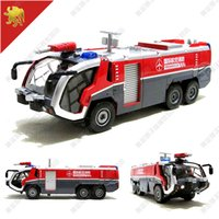 truck and engine - 1 simulation fire trucks at the airport alloy model car toys the flashing and Pull Back fire engine