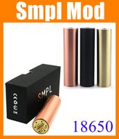 18650 510 thread 18650 battery 18650 Machanical Mods SMPL Mod Red Copper 22mm e Cigarette SMPL Mods Fit RDA Atomzier pk Kayfun Manhattan Apollo M6 nemesis mech ModTZ233
