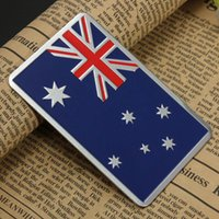 australian flag stickers - Audew Car Accessories Sticker Metal D Australian Flag Metal Car Badge Chrome Car Emblem All Wheel Drive Auto Sticker order lt no track