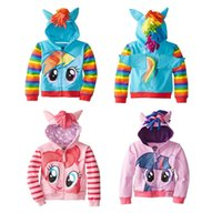 Wholesale Retail New Fashion Girls Big Size Children Outerwear My little Pony Jackets Coat Hoodies Clothing Roupas Infantil in stock