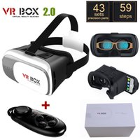 Wholesale Google cardboard HeadMount VR BOX VR Virtual D Glasses wireless bluetooth remote controller gamepad with package