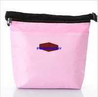 Wholesale 100pcs Thermal Lunch Bag Insulated Cooler Waterproof Pouch Handbag Travel Outdoor Picnic Tote Food Bags Lunch Carry Organizer