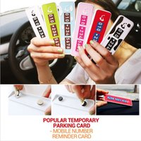 Wholesale Novel Temporary Car Parking quot CALL ME quot Sticker Car Shift Contact Phone Number Notice Post Plate Park Car Accesories Four Colors