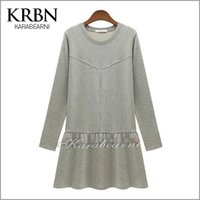 Cheap 2015 Women Dress winter and spring clothing European style long Sleeve Casual Dress solid Party Dresses Free Shipping K8374