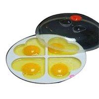 Wholesale FS Hot Kitchen Microwave Oven Eggs Heart shaped Poacher Cooker Steamer evaporating order lt no track