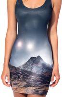 beautiful blouse designs - 2015 Fashion Beautiful scenery D printing Design Women Dress Summer Sexy Stretch Blouse Dress