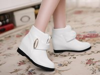 Ankle Boots popular Women Designer shoes fall flat with higher female boots in white autumn flat short boots boots
