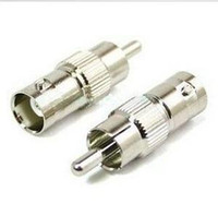 Wholesale F04531 New BNC female to RCA male Coax Cable Connector Adapter Coupler for Surveillance CCTV Camera