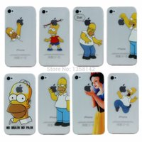 Wholesale For Apple iPhone s case new arrival transparent Simpson design cell phone cases covers for iphone4s