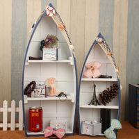 Wholesale Mediterranean boat storage lockers Household Curio Cabinet C Creative Crafts Show lockers