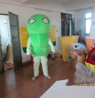 adult caterpillar costume - Real Pictures Deluxe Green Caterpillar Mascot Costume Adult Size Caterpillar Cartoon Clothing Animal Christmas Mascot Party Dress